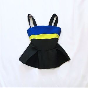 gracia ⋆ colorblock peplum top